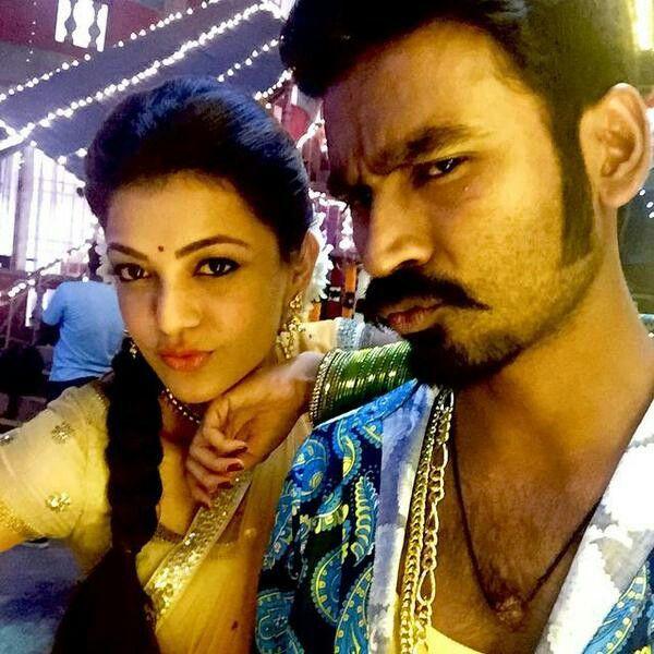 From the shoots of Maari -Dhanush & Kajal