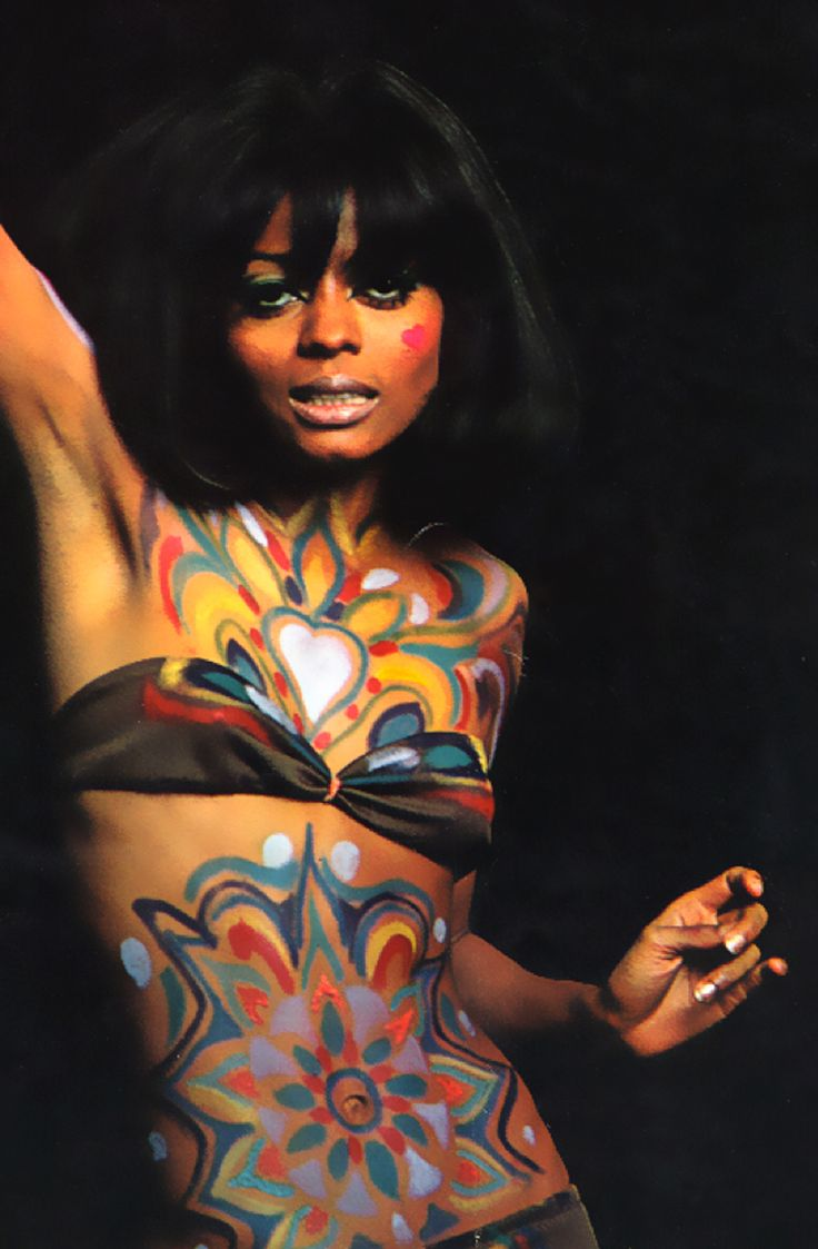 Diana Ross in the psychedelic 1960s. LOOK Magazine 1969