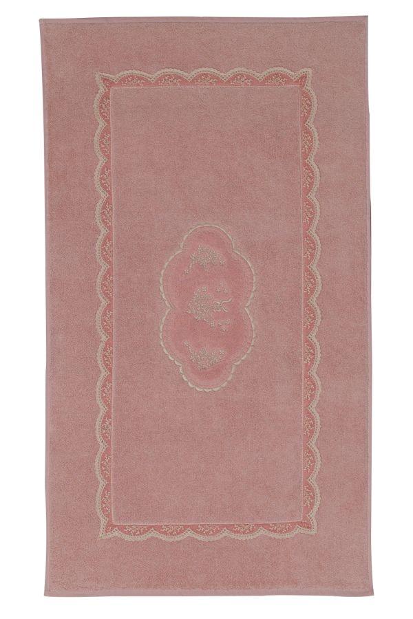 Luxusná kúpeľňová predložka BUKET v staroružovej farbe