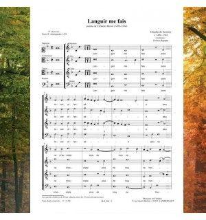 Claudin de SERMISY / Clément MAROT : Languir me fais - chanson de la Renaissance 4 voix mixtes (SATB) - Editions Musiques en Flandres - référence : MeF 404