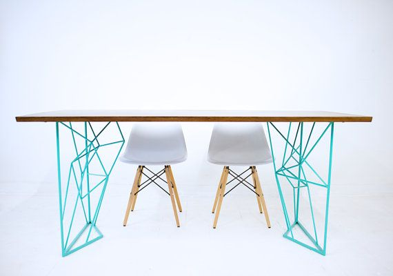 The Yoshi Dining Table: Modern Steel Rod Dining Table, Kitchen Table, Breakfast Table, Dining Set, Desk
