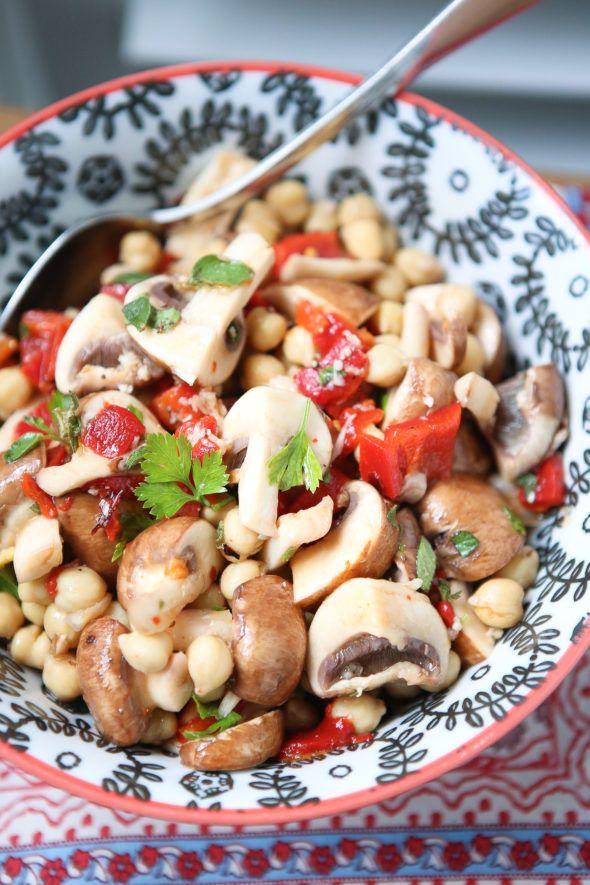 Marinated Mushroom and Chickpea Salad
