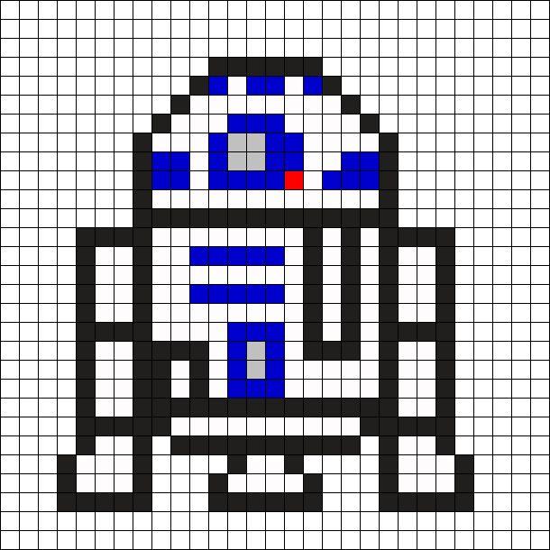 R2D2 - Star Wars Perler Bead Pattern