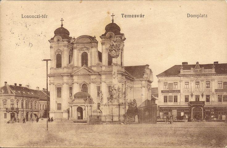Timisoara - Piata Unirii / Losonczy-ter / Domplatz. 1913