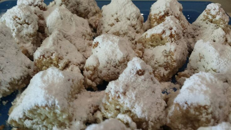 Amigdalota are delicious Greek almond cookies. #christmasrecipes #christmasdesserts