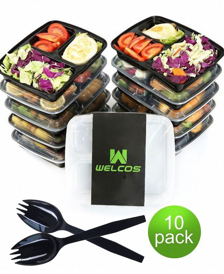 Microwavable Reusable Healthy Meal Prep Food Storage Containers  Compartment