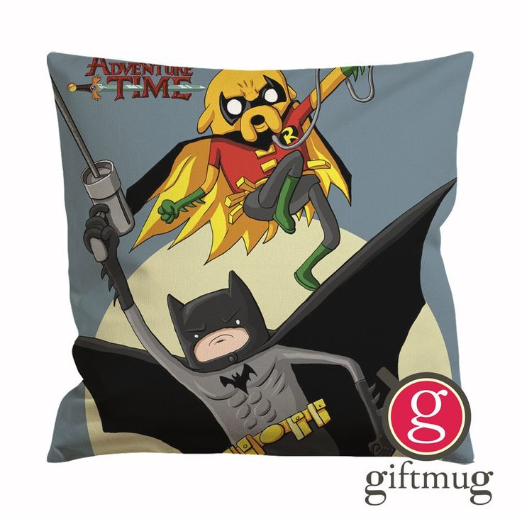 Adventure Time Batman and Robin Cushion Case / Pillow Case
