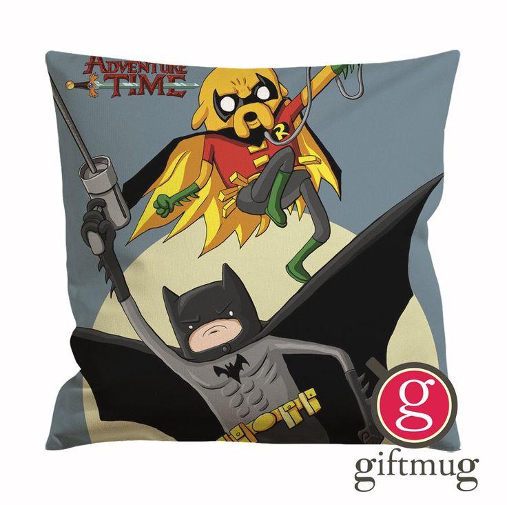 Adventure Time Batman and Robin Cushion Case / Pillow Case
