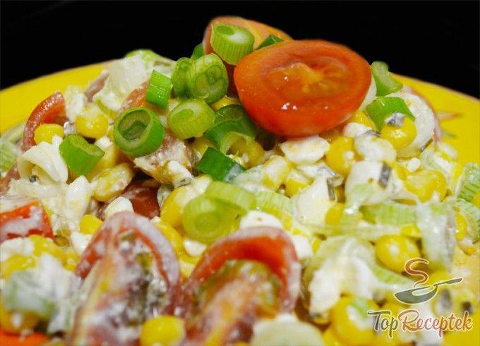 Ricottás-zöldséges saláta