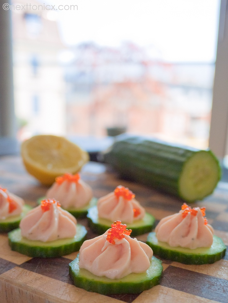 Smoked Trout Mousse Canapés