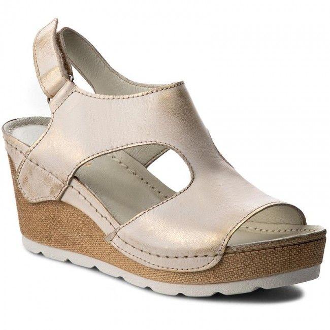 Sandały DOLCE PIETRO - 0888-127-01-1 Biało/Złoty