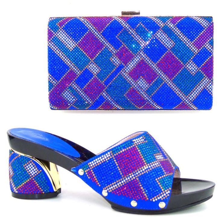 63.32$  Watch here - http://alie9f.worldwells.pw/go.php?t=32757465527 -  African Shoes And Matching Bags Italian 8cm Italy Shoe And Bag Set With Rhinestones Matching Shoes And Bags For Wedding CT16-56