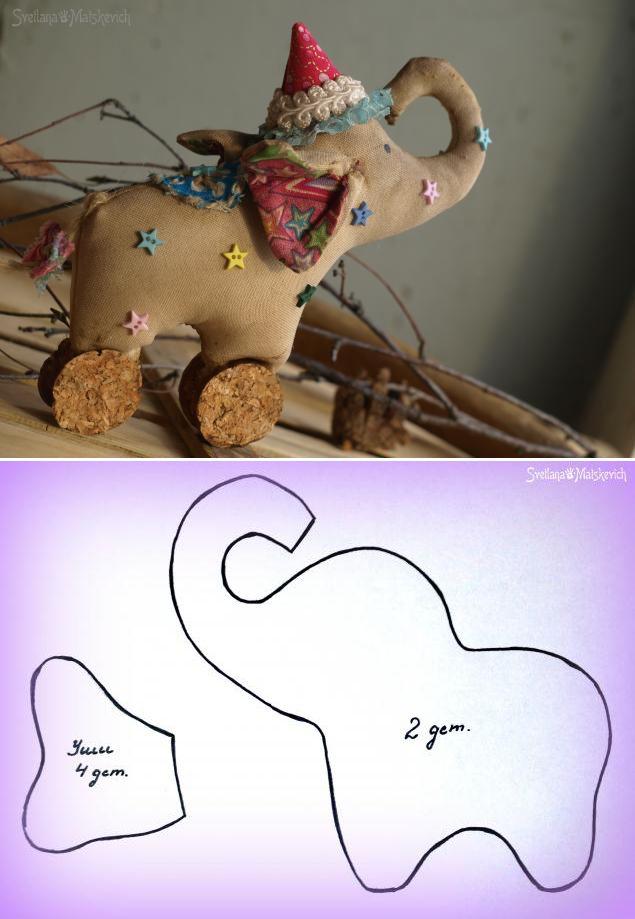 Сшей слона! Выкройка от Светланы Мацкевич #diy #template #toy