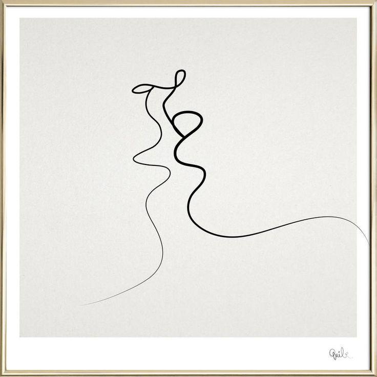 Kiss von Quibe als Poster im Alurahmen ✓ Jetzt online kaufen bei JUNIQE ✓ Zuverlässiger Versand ✓ Täglich neue Designs – Jetzt entdecken!