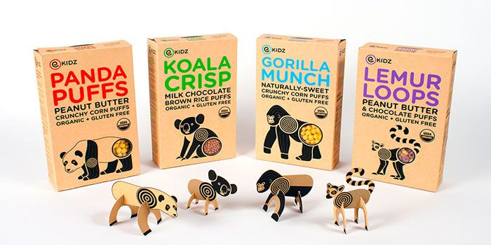 Package and identity re-design for four Envirokidz Organic Cerealbrands