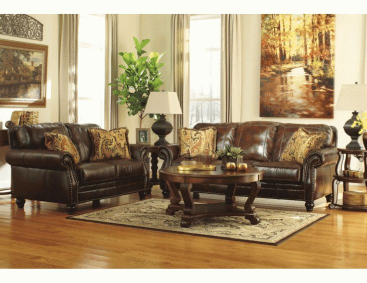 sofa graydon park dark saddle genuine leather sofa set lexington with brown floor and white wall