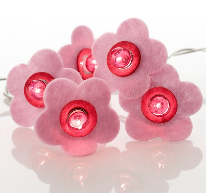 Rouge Living String Lighting Daisy Pink