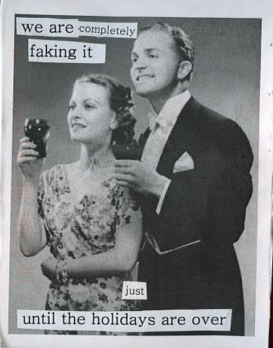 We are completely #faking it just until the #holidays are over. #postsecret #marriage #divorce #breakups