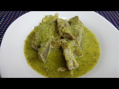 Costillas en salsa verde  - Guatemala