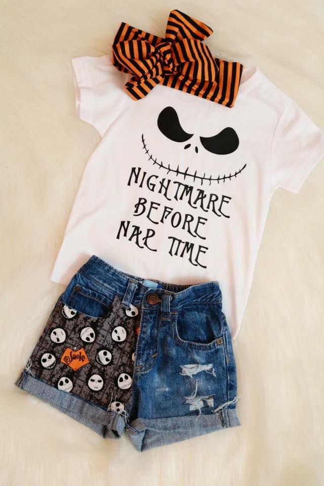 Kids Nightmare before christmas tshirt disney inspired outfit for halloween