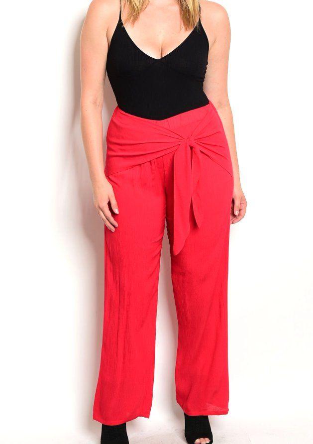 $35+Plus+Size+Sarong+Wrap+Wide+Leg+Dress+Pant