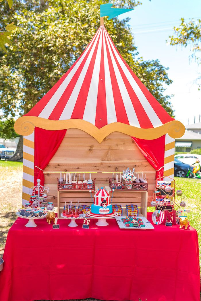Big Top Dessert Table from a Circus Birthday Party on Karau0027s Party Ideas | KarasPartyIdeas.  sc 1 st  Pinterest & 746 best Circus Carnival party u0026 Wedding images on Pinterest ...