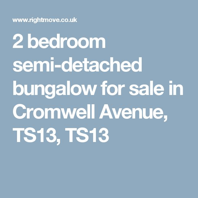 2 bedroom semi-detached bungalow for sale in Cromwell Avenue, TS13, TS13
