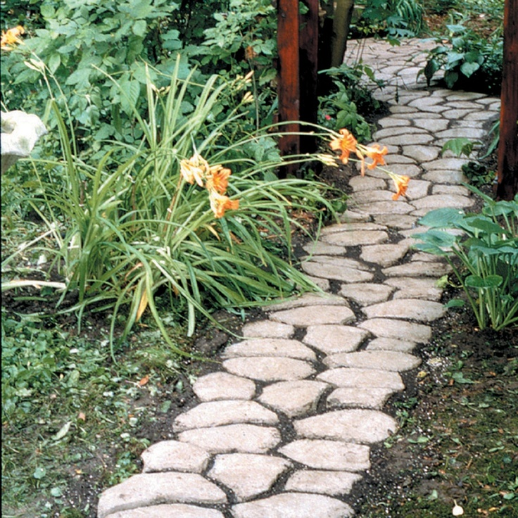 Pathmate do it yourself cobblestone look walkway molds i for Amenagement jardin diy