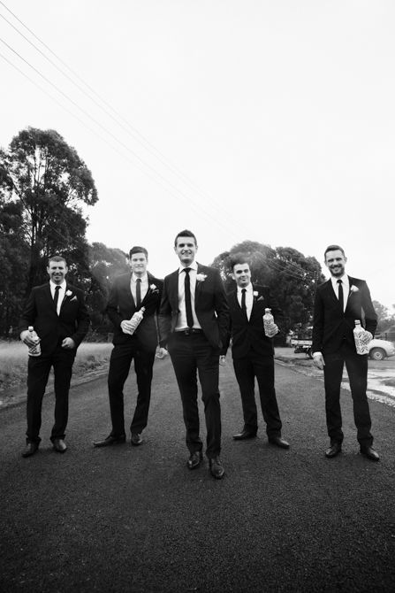 Shooting from below gives an interesting sense of perspective in this shot. #weddingphotography #markjayphotography #sydneyweddingphotographer #groomsmen #bridalparty #groom