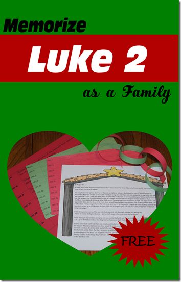 123 Homeschool 4 Me has a FREE memorize Luke 2 printable that will encourage and help your child memorize Luke 2 this Christmas season.  Click h