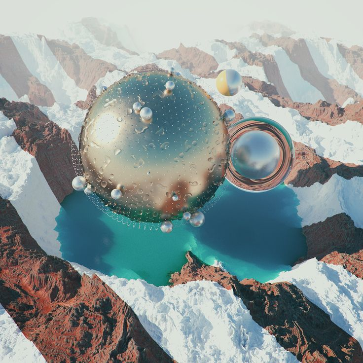 Space landscapes by Filip Hodas — T H E •• T W O