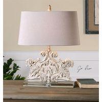Schiavoni - distressed stone ivory lamp
