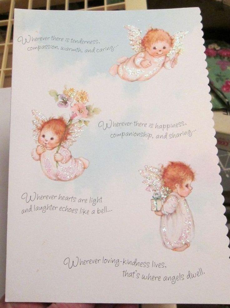 300 best vintage greeting cards images on pinterest vtg hallmark mary hamilton glitter angel babies birthday card daughter sparkles m4hsunfo Gallery