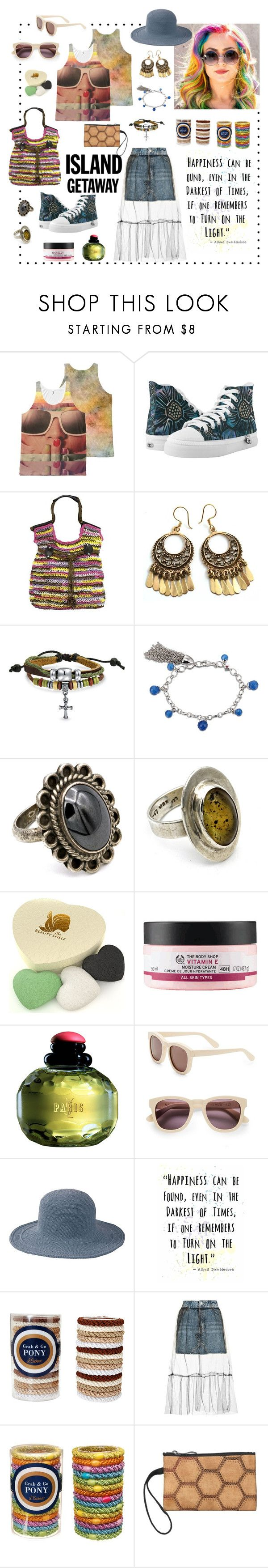 """""""Where's My Mind"""" by ubm-store ❤ liked on Polyvore featuring Bling Jewelry, The Konjac Sponge Co, The Body Shop, Yves Saint Laurent, Wildfox, San Diego Hat Co., L. Erickson, Topshop, vintage and hippie"""