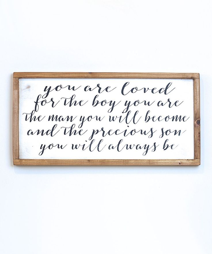 Vinyl Crafts Black & White Loved Son Wall Sign | zulily