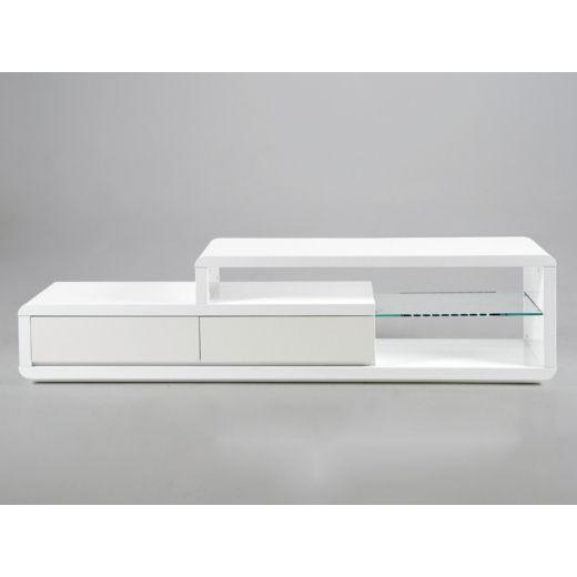 TV stolek s LED diodami Abbey bílá - 1