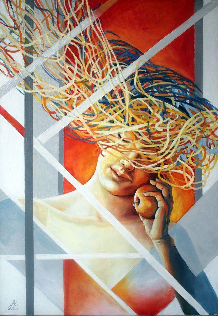Anna Rączka ,,Ewa''olej na płótnie  100 x 70 cm
