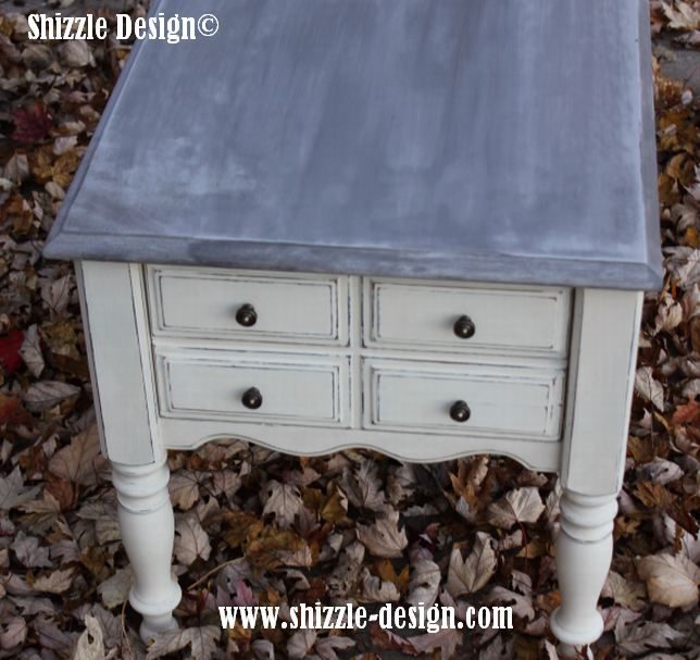 omaha ochre and home plate end table over virginia chestnut with smoke signal top shizzle design