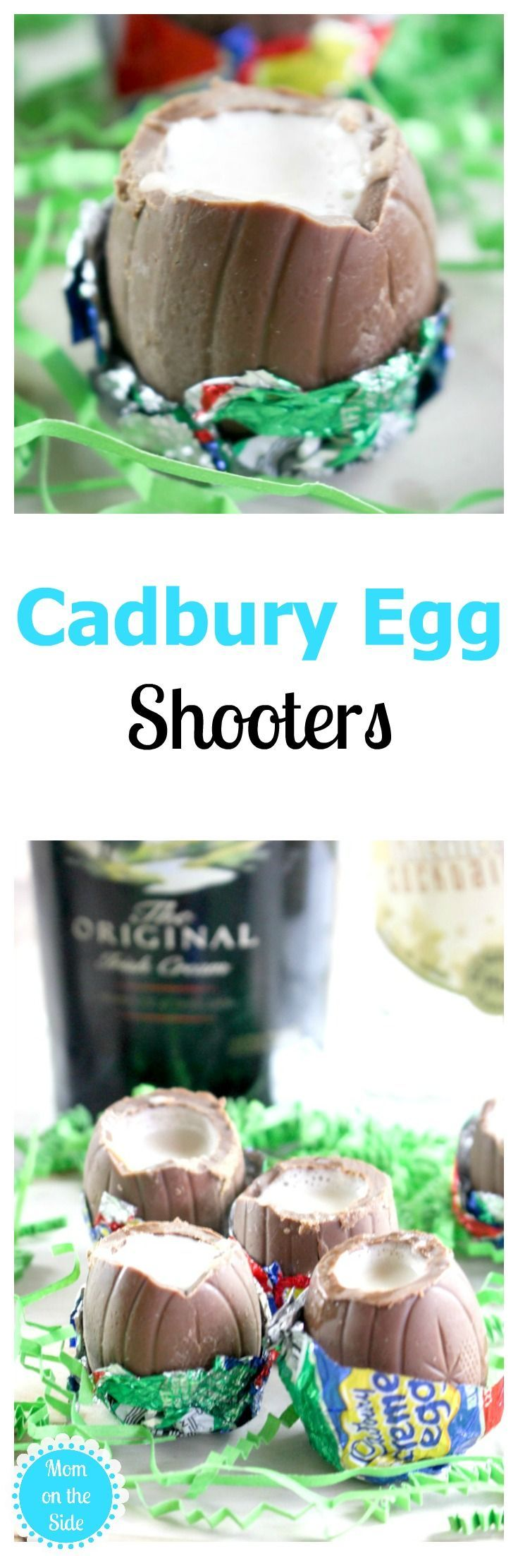 Using Cadbury Eggs to make shots for Easter is super fun! If you will be serving Easter cocktails at your party, give these Cadbury Egg Shooters a try. via @momontheside