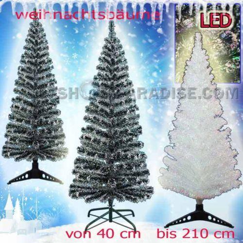 Unique  shop paradise LED Glasfaser K nstlicher Weihnachtsbaum Tannenbaum farbwechselnde