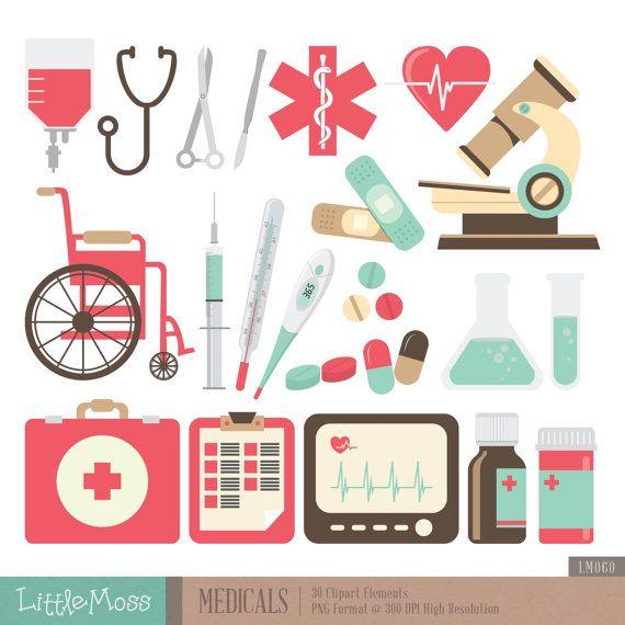 Imágenes Prediseñadas de exámenes médicos por LittleMoss en Etsy