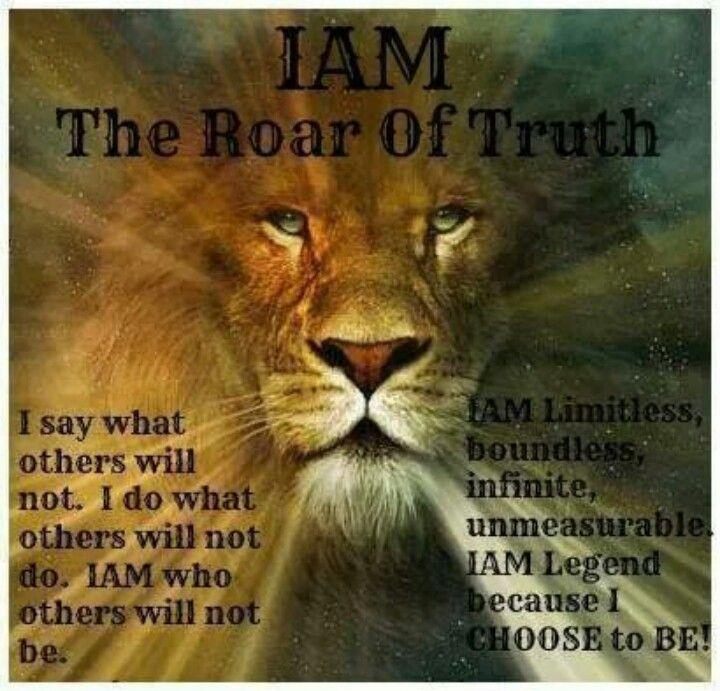i am the roar of truth creative sayings pinterest i
