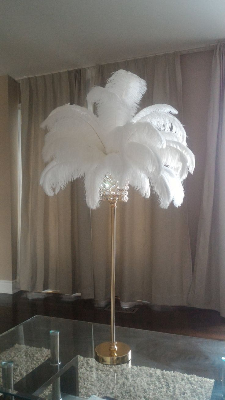 """28"""" Tall Gold Crystal Globe Stand Ostrich Feather Centerpiece for Great Gatsby/Wedding/Old Hollywood/Glitz and Glam themes by Featherology2 on Etsy https://www.etsy.com/listing/267499773/28-tall-gold-crystal-globe-stand-ostrich"""