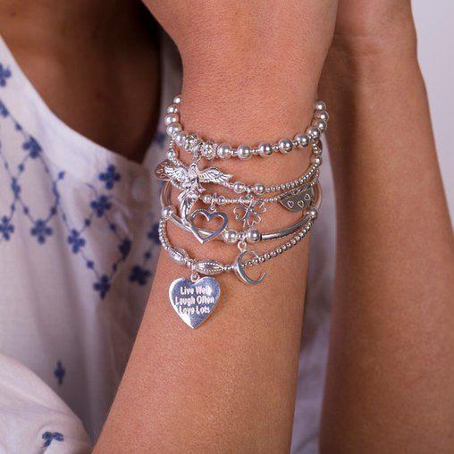 Sama My Guardian Angel #AnnieHaak #SterlingSilverBracelets #CharmBracelets