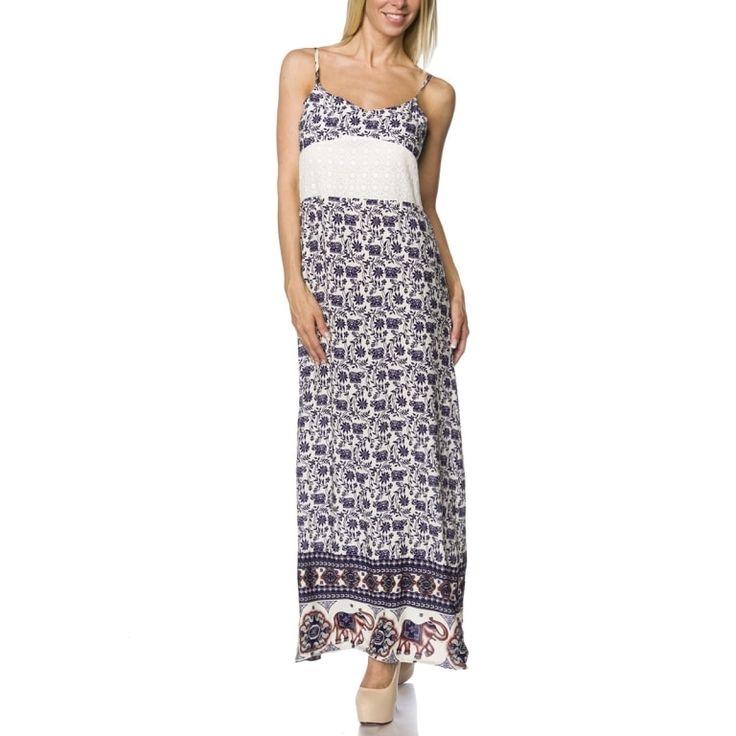 Maxi-Kleid (weiss-blau) (**) online bestellen und kaufen ...