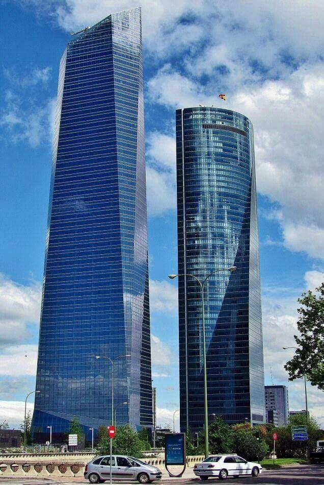 torre cristal y torre espacio madrid
