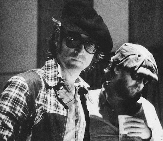 John Lennon and Harry Nilsson who was called the 5th Beatle . . .