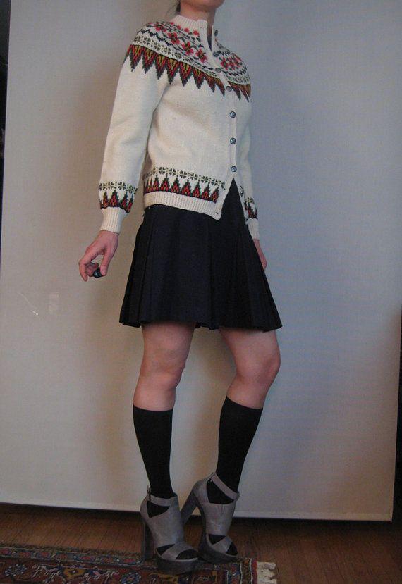 Vintage 50s 60s NORWEGIAN FAIR ISLE Wool by retasroses on Etsy