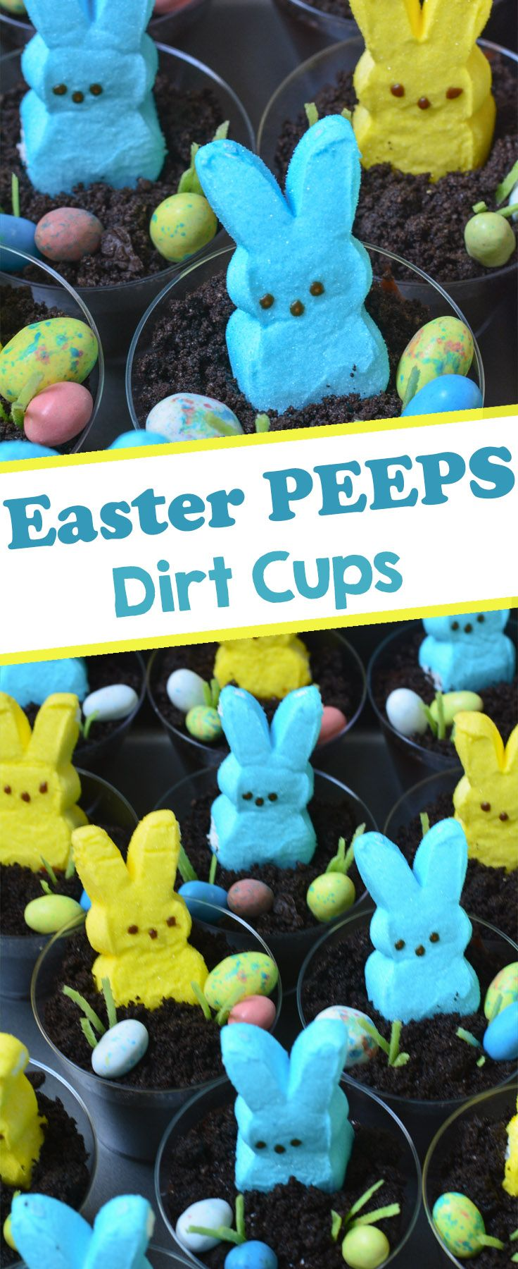 Made from layers of Oreo cookies and pudding and topped with Easter PEEPS, jelly…   – For Kids
