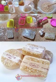 Como hacer jabón exfoliante de avena y miel